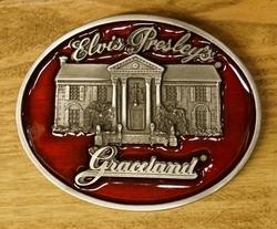 """Elvis buckle  """" Graceland Elvis Presley """" Rood"""