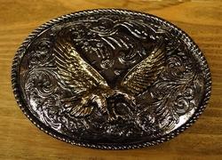 "Siergesp  "" Vliegende adelaar ""  Zilver / goudkleurig"