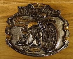"Motor cylce buckle  "" Black shadour ""  Zilver/goud kleurig"