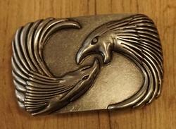 """Buckle  """" Vliegende adelaar """"  Zwart / zilverkleurig"""