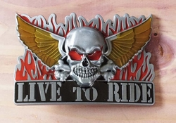 "Buckle / gesp  "" Live to ride ""   UITVERKOCHT"