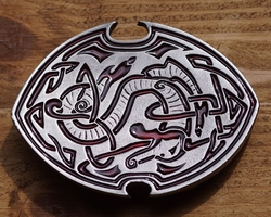 "Buckle / gesp  "" Keltische design with snake"""