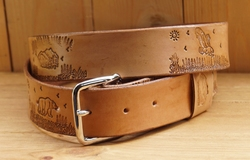 "Buckle riem ""  Landschap mountains ""  Beige"