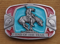 "Buckle / gesp  "" End of the trail """