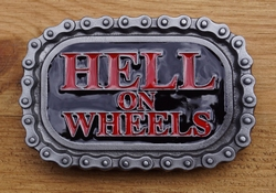 "Buckle / gesp  "" Hell to wheel """
