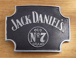 "Belt buckle  "" Jack Daniel's Old no 7 brand ""  Zwart/zilver"