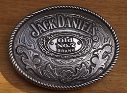 """Buckle  """" Jack Daniels Old no 7 brand """"  Bloemenmotief"""