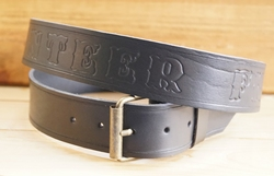 "Buckle riem ""  Volunteer Firefighter ""  Zwart"