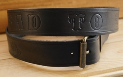 "Buckle riem ""  Bad to the bone ""  Zwart"