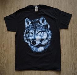 """T-shirt """"  Wolvenkop """"   Zwart"""