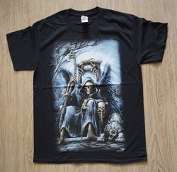 "T-shirt ""  The Grim Reaper ""   Zwart"