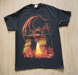 "T-shirt   "" Fireball dragon ""   Zwart"