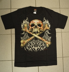 "T-shirt   "" Skull with bones ""   Zwart"