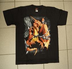 """T-shirt   """" Draak """"   Zwart"""