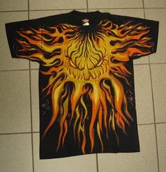 "T-shirt   "" Monsterlijke vlammen ""   Zwart"