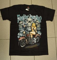 """T-shirt   """" Feelin lucky ? """"   Zwart"""