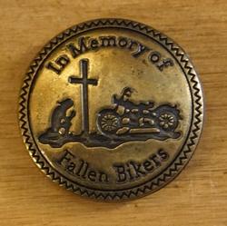 """Concho  """" In memory of fallen biker """"  Koperkleurig"""