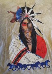 """T-shirt   """" Indiaan """"   Beige"""