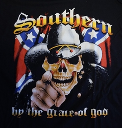 "T-shirt ""  Southern by the grace of god ""   Zwart"
