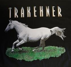 "T-shirt  "" Trakehner  paard  ""   Zwart"