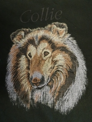 """T-shirt  """" Collie  """"   Zwart"""