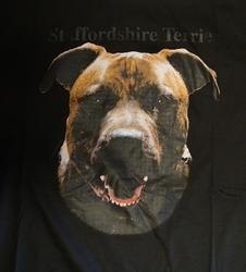 """T-shirt  """" Staffordshire Terrie  """"   Zwart"""