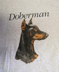 "T-shirt  "" Doberman  ""   Grijs"