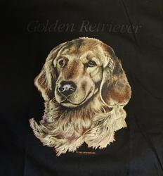 """T-shirt  """" Golden retriever """"  Zwart"""