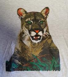 """T-shirt  """" Panter """"  Grijs"""
