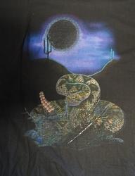 "T-shirt  "" Ratelslang ""  Zwart"