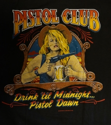 "T-shirt  "" Pistol club ""   Zwart"