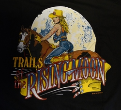 "T-shirt  "" Trails of the rising moon ""   Zwart"