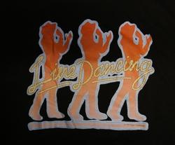 """T-shirt  """" Line dancing """"   Zwart"""