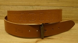 "Buckle riem ""  Royal canadian mounted police ""  Beige"