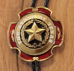 "Large bolo tie  "" The States of Texas "" Rood / goud"