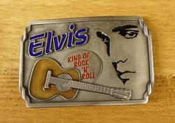 "Elvis buckle  "" Elvis King of Rock 'n Roll """