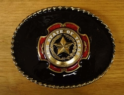 "Buckle "" The state of Texas ""   Achtergrond zwart"