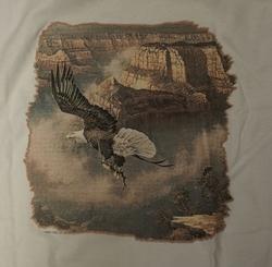 """T-shirt  """" Adelaar vliegend boven de rotsen """"   Wit"""