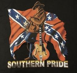 "T-shirt  "" Southern pride ""   Zwart"