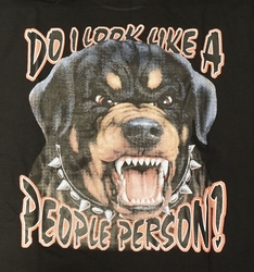 "T-shirt  "" Do i look like a people person !  ""    Zwart"