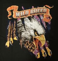 """T-shirt  """" Adelaar Wild breed """"   Zwart"""