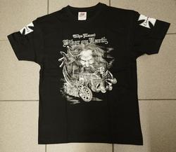 """T-shirt  """" The last biker on earling """"   Zwart"""