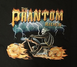 "T-shirt  "" Phantom rider ""   Zwart"