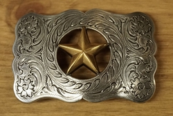 "Sterling zilveren buckle  "" Texas ster """