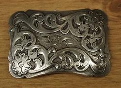 """Sterling zilveren buckle  """" Bloemen """""""