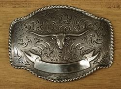 """Sterling zilveren buckle  """" Stierenkop """""""
