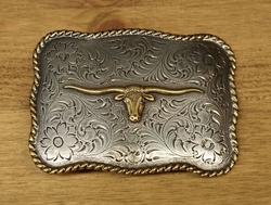 """Sterling zilveren buckle  """" Longhorn """" zilver  UITVERKOCHT"""
