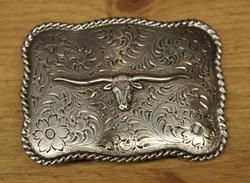 "Sterling zilveren buckle  "" Longhorn """