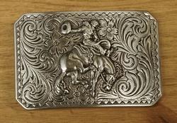 """Sterling zilveren buckle  """" Cowboy / rodeo """""""