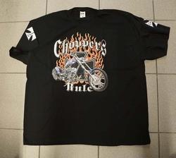 """T-shirt  """" Choppers rule """"     Zwart"""